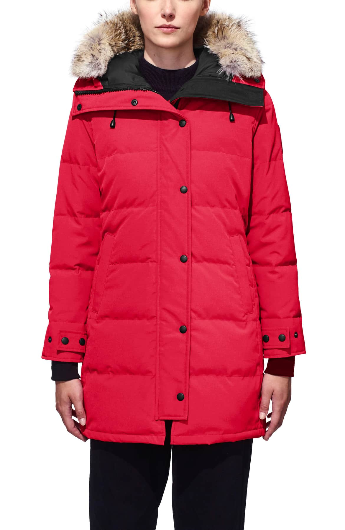 <p>Designed to stand up to frigid temperatures, a rugged parka goes uptown-stylish in a slim, mid-thigh-length silhouette.{&nbsp;}$925.00 (Image: Nordstrom){&nbsp;}</p><p></p>
