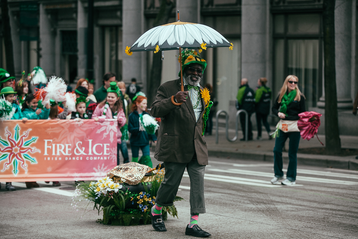 Thousands of people came down to the annual St. Patricks Day Parade in downtown Seattle. Bagpipers, bands, dancers, dogs and more marched down 4th to celebrate St. Patrick's Day. March 13th 2014. (Joshua Lewis / KOMO News)