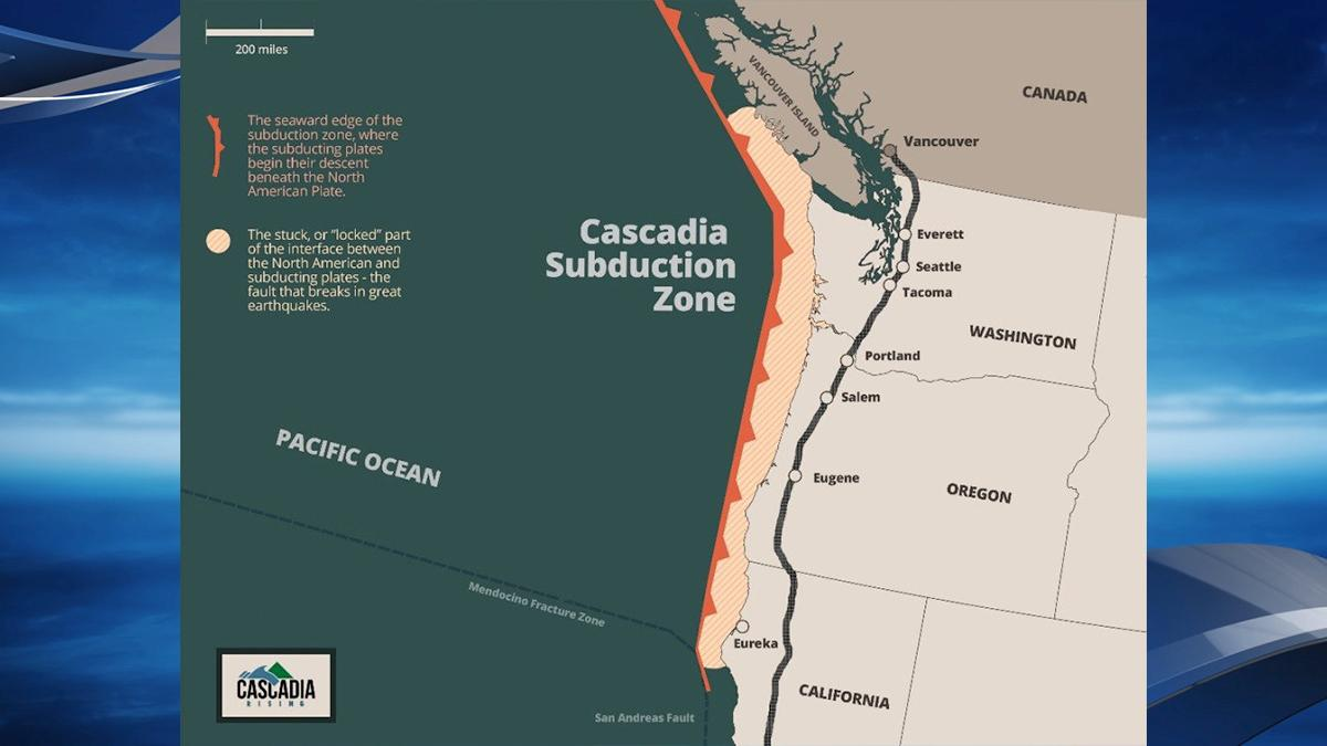 Cascadia Subduction Zone - Image from the Oregon Secretary of State Audits Division.<p></p>