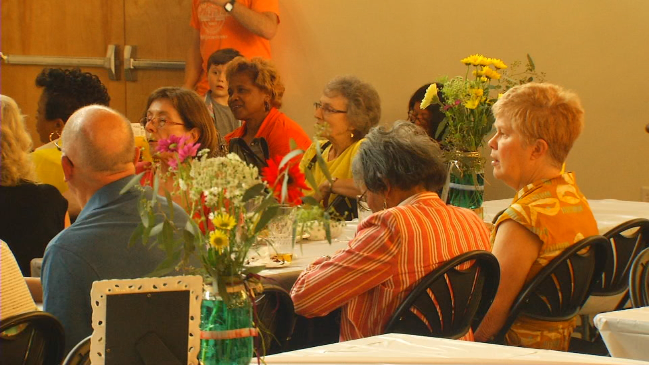 The Arc of Buncombe County held its annual Spring Fling at Highland Brewing's tasting room Thursday night. (Photo credit: WLOS staff)