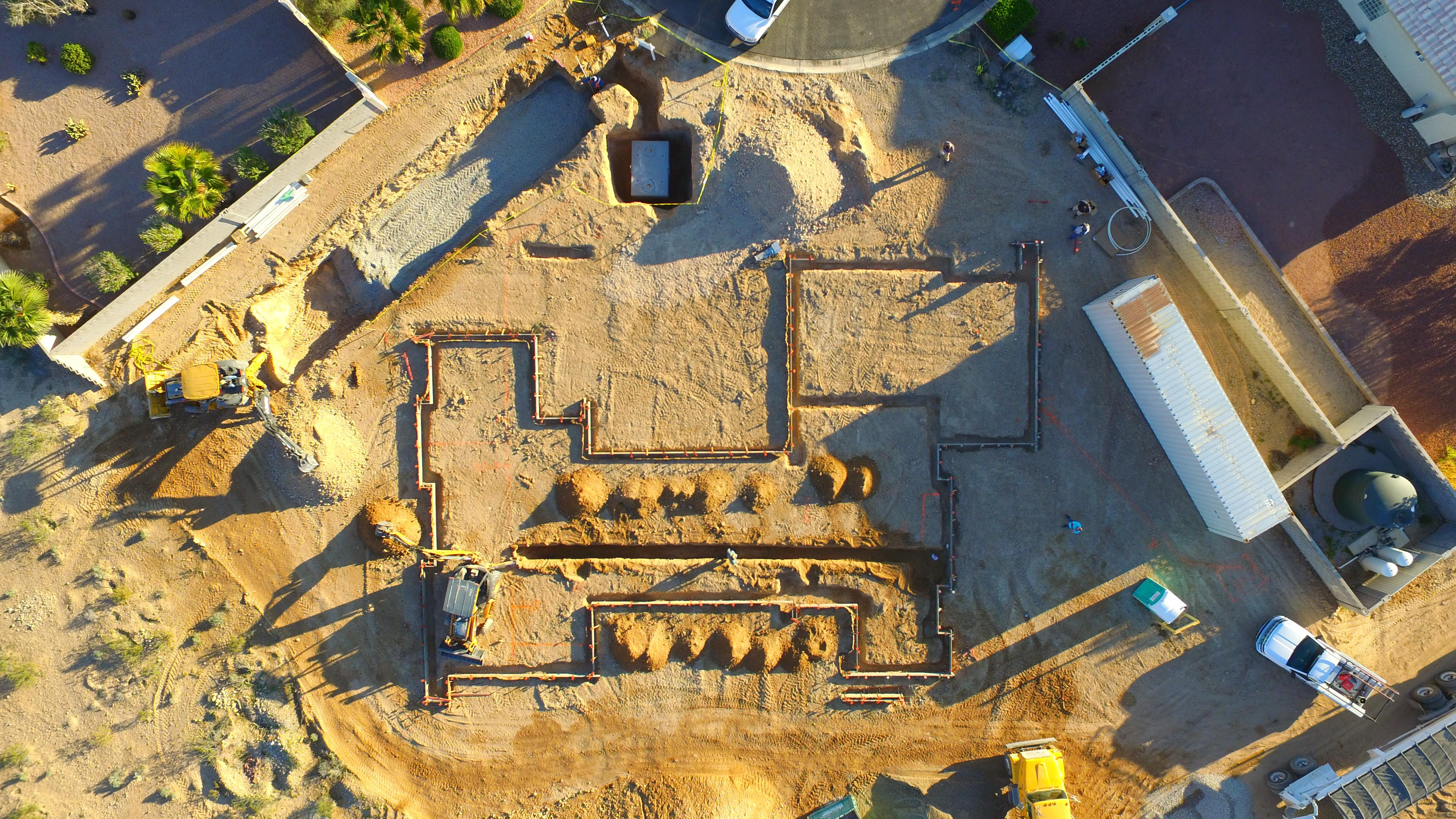 Twelve days into the construction of the St. Jude's Dream Home. . Photo taken by drone on 3/13/2017.  Tickets for a chance to win the home available Wednesday, August 2, 2017 at DreamHome.org (or call 800-378-5386)  (Photo Courtesy Element Building Company)