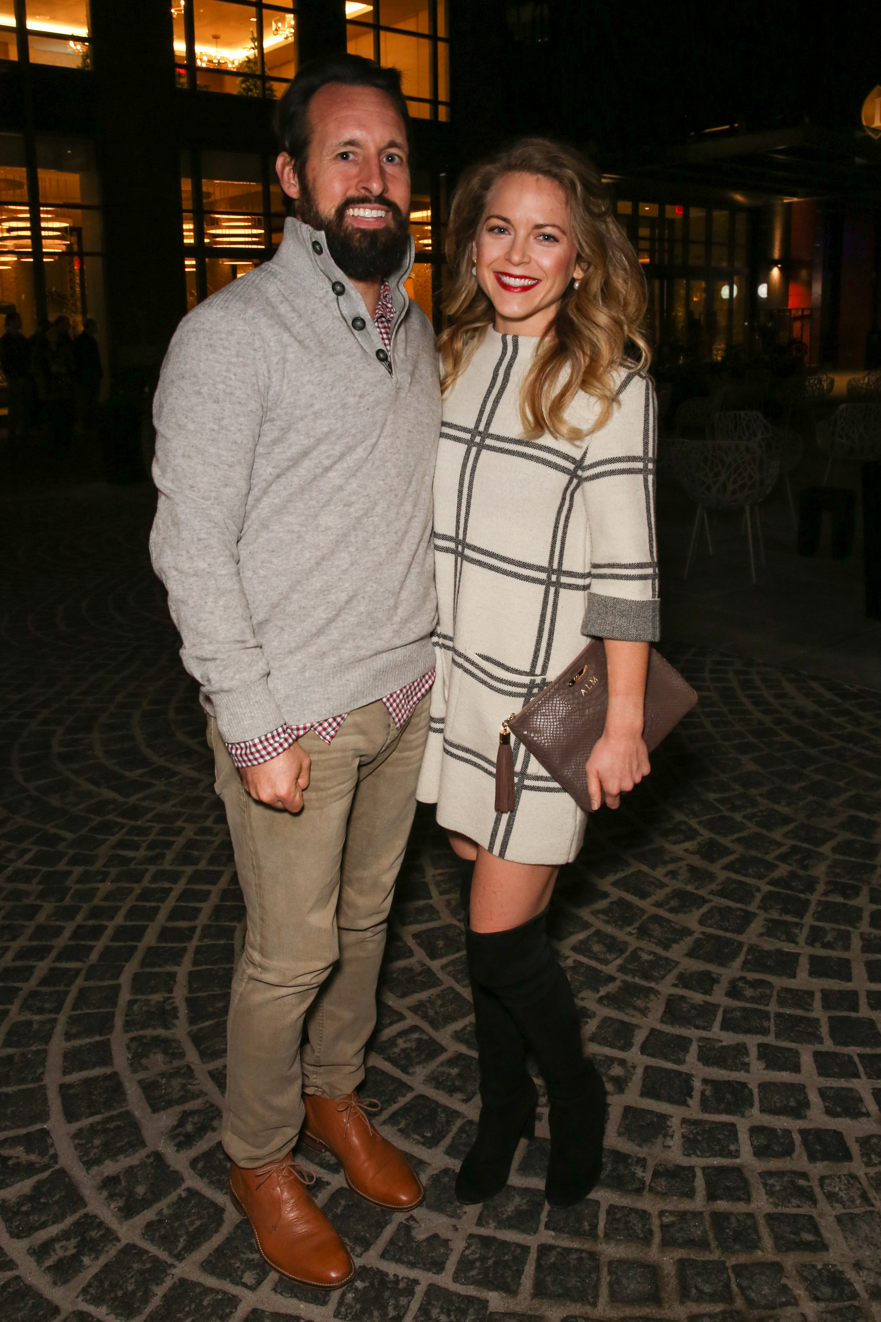 Allison Matthews and William Moore are perfectly coordinated for date night at The Wharf (Amanda Andrade-Rhoades/DC Refined)<p></p>