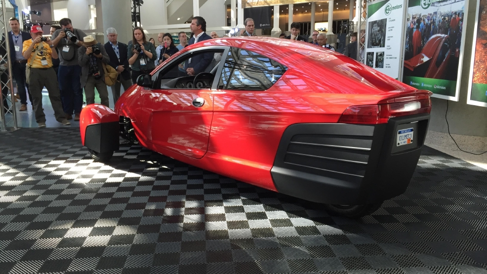 Future of 39 84 mpg 39 elio 3 wheeler depends on government for General motors near me