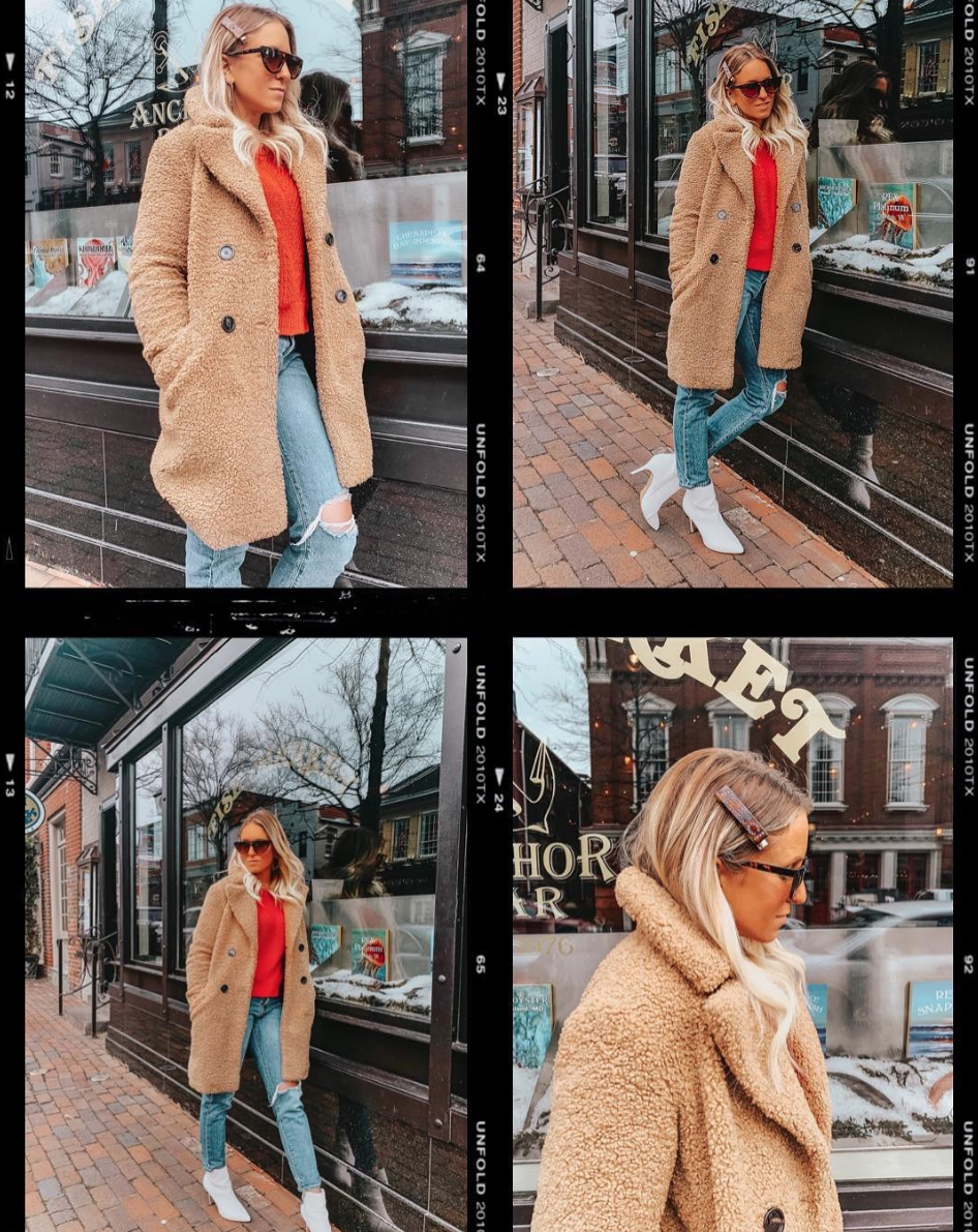 Strong accessories are your friend as you climb out of your winter hole and this outfit is giving us a strong Margot Tenenbaum vibe. (Image via @fiftytwothursdays)