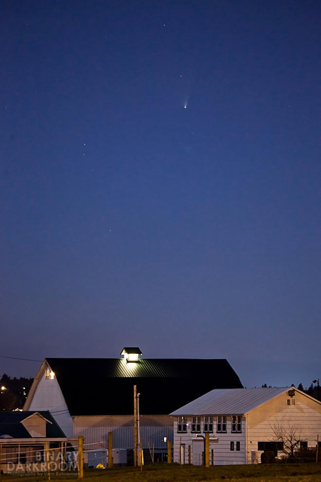 Comet PANSTARRS from Bothell (Photo: Liem Bahneman)