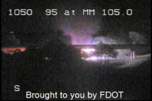A vehicle fire shut down two northbound lanes of I-95 in Palm City early Friday morning. WPEC