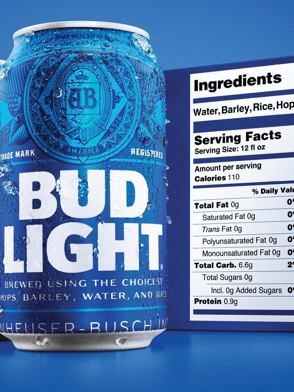 Bud Light debuts bigger nutrition