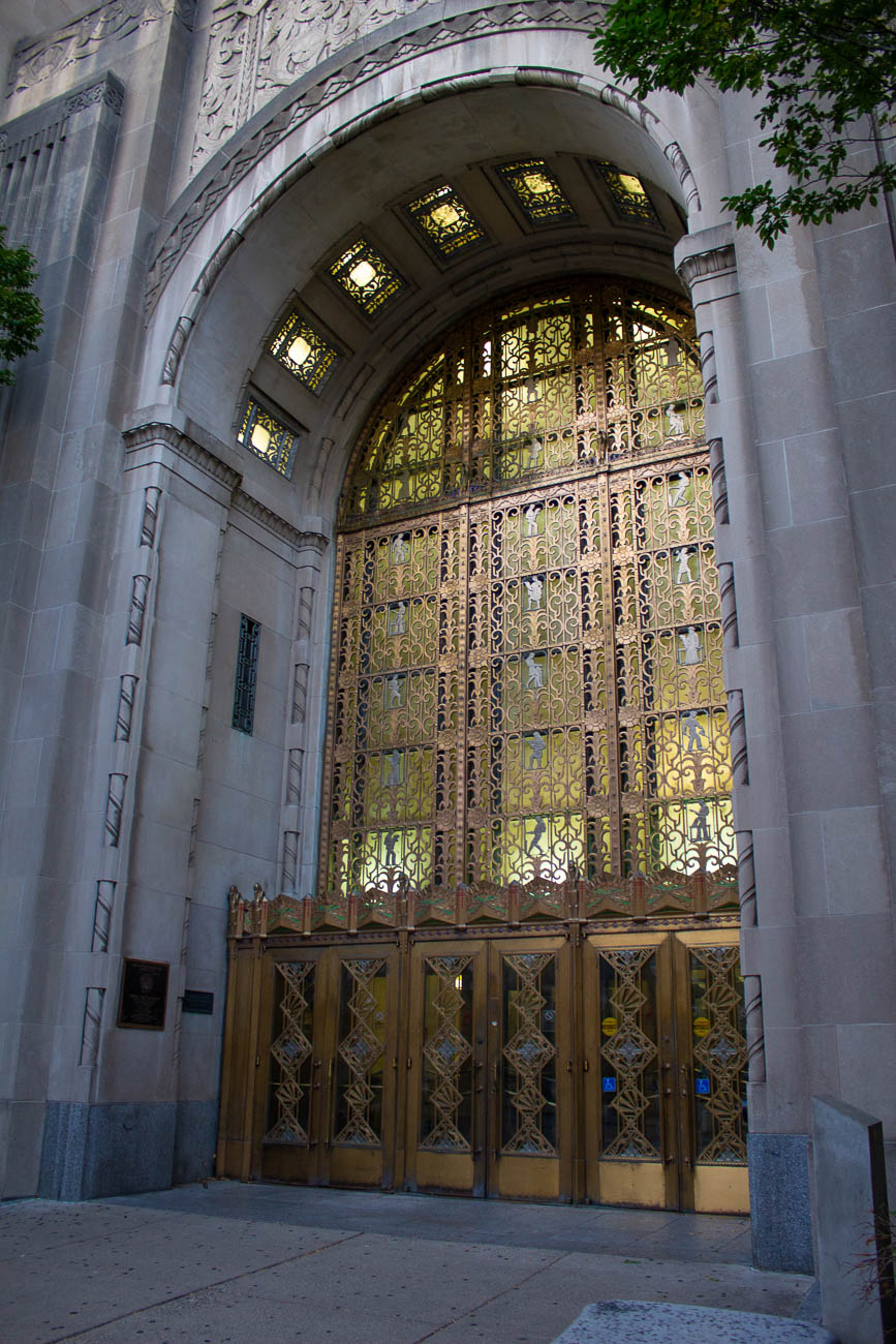 The former Cincinnati Times-Star newspaper building, located at 800 Broadway Street, was once owned and operated by the city's famous Taft family. Today, the historic structure is used for county offices and the Hamilton County Juvenile Court, where even judges have reported hearing unusual footsteps throughout the building. / Image: Katie Robinson, Cincinnati Refined // Published: 10.5.19
