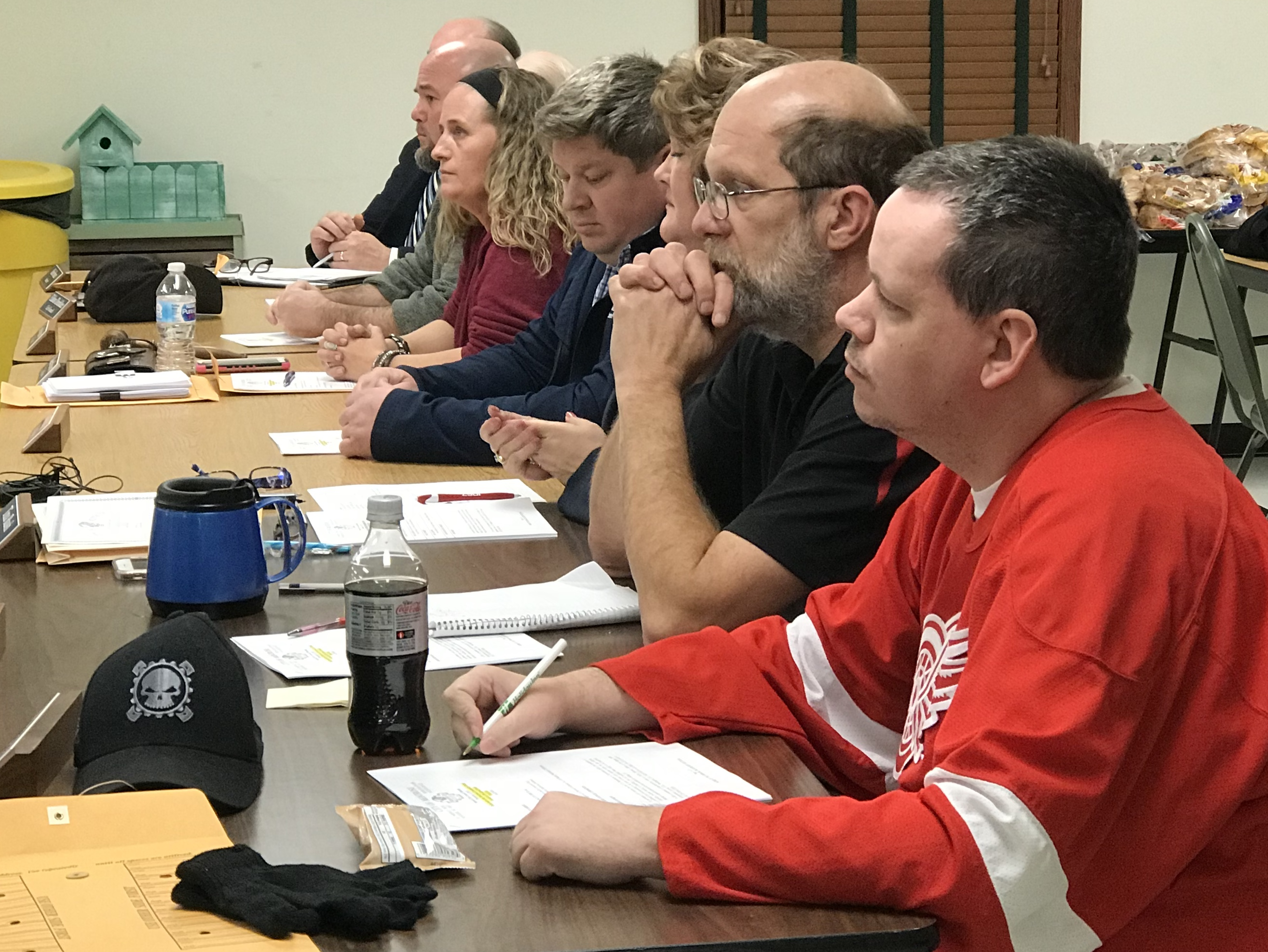 Montrose City Council delays a vote to approve a marijuana production ordinance at a meeting on December 5. (Photo Credit: Drew Moore/WSMH)<p></p>