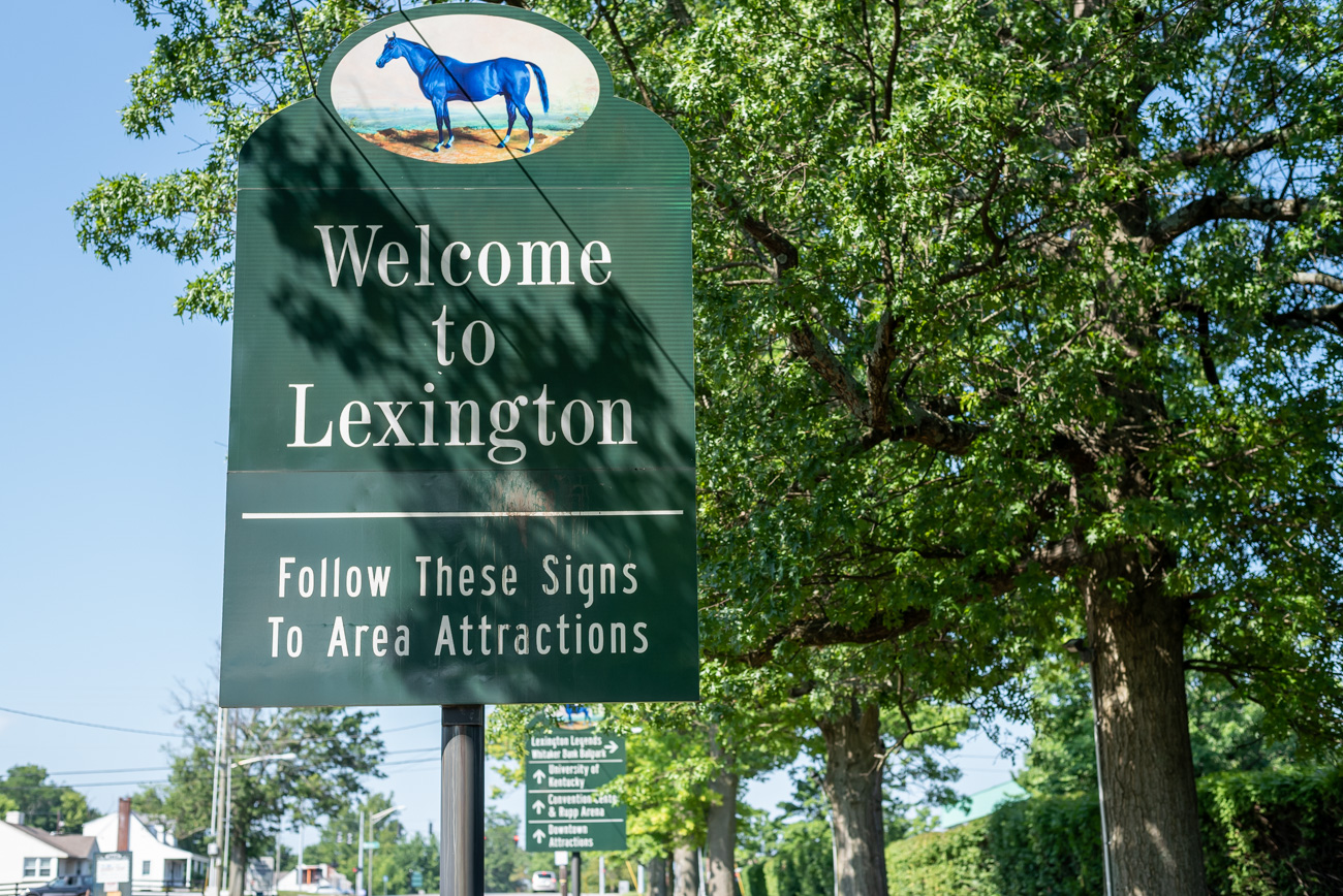 You've made it to Lexington! / Image: Mike Menke // Published: 8.25.20