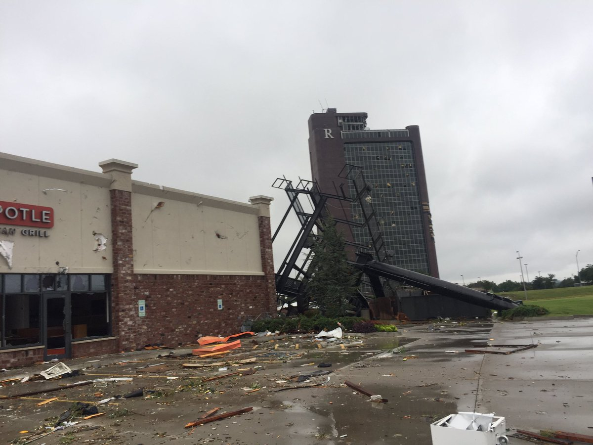 The National Weather Service confirmed Sunday that preliminary damage reports suggest an EF2 struck midtown Tulsa around 1:25 a.m. and moved quickly into Broken Arrow. (KTUL)