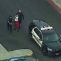 Potential robbery suspect in handcuffs after early morning chase