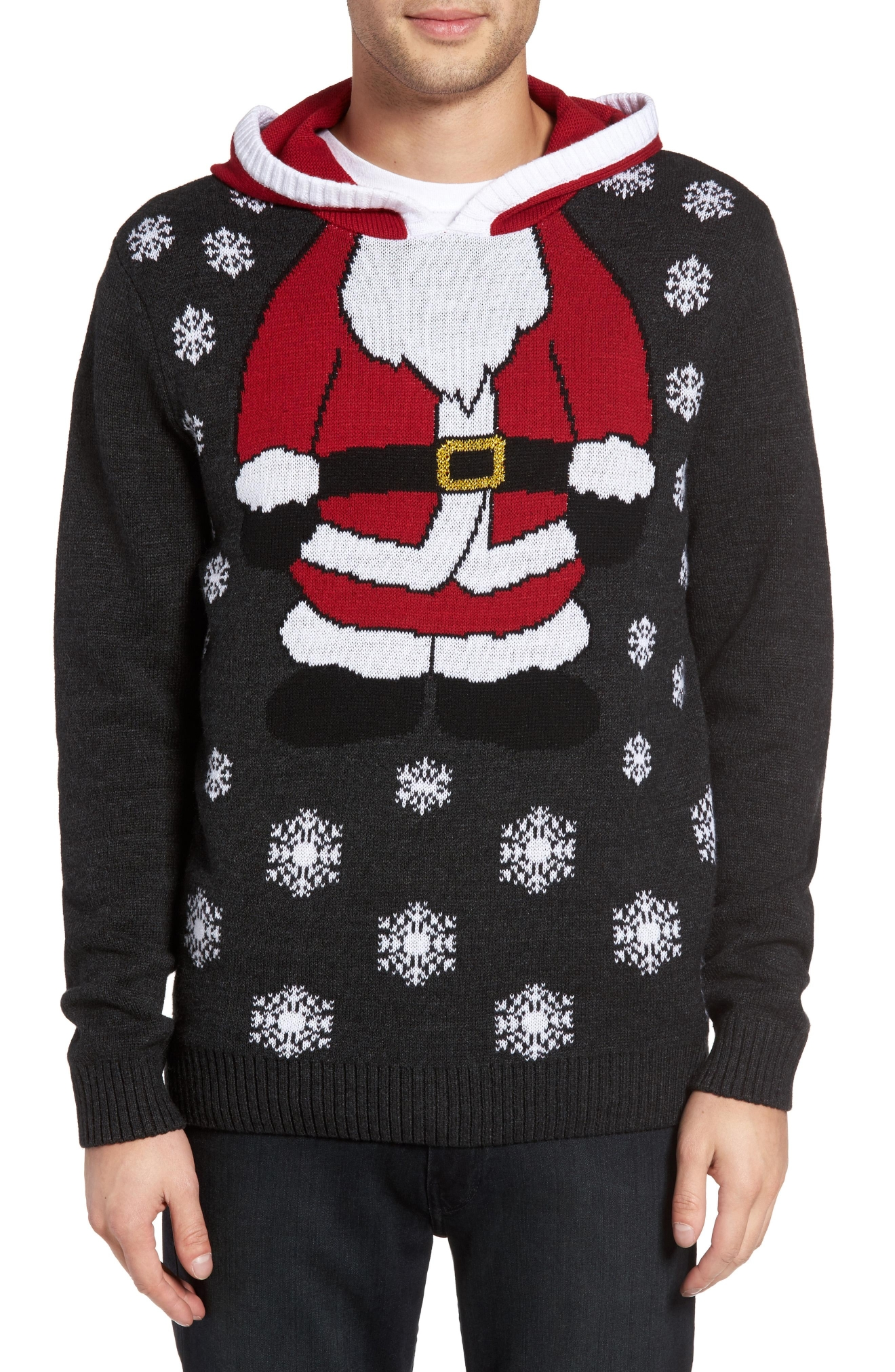 The Rail Santa Hooded Sweater, $49.50 (Photo: Nordstrom)