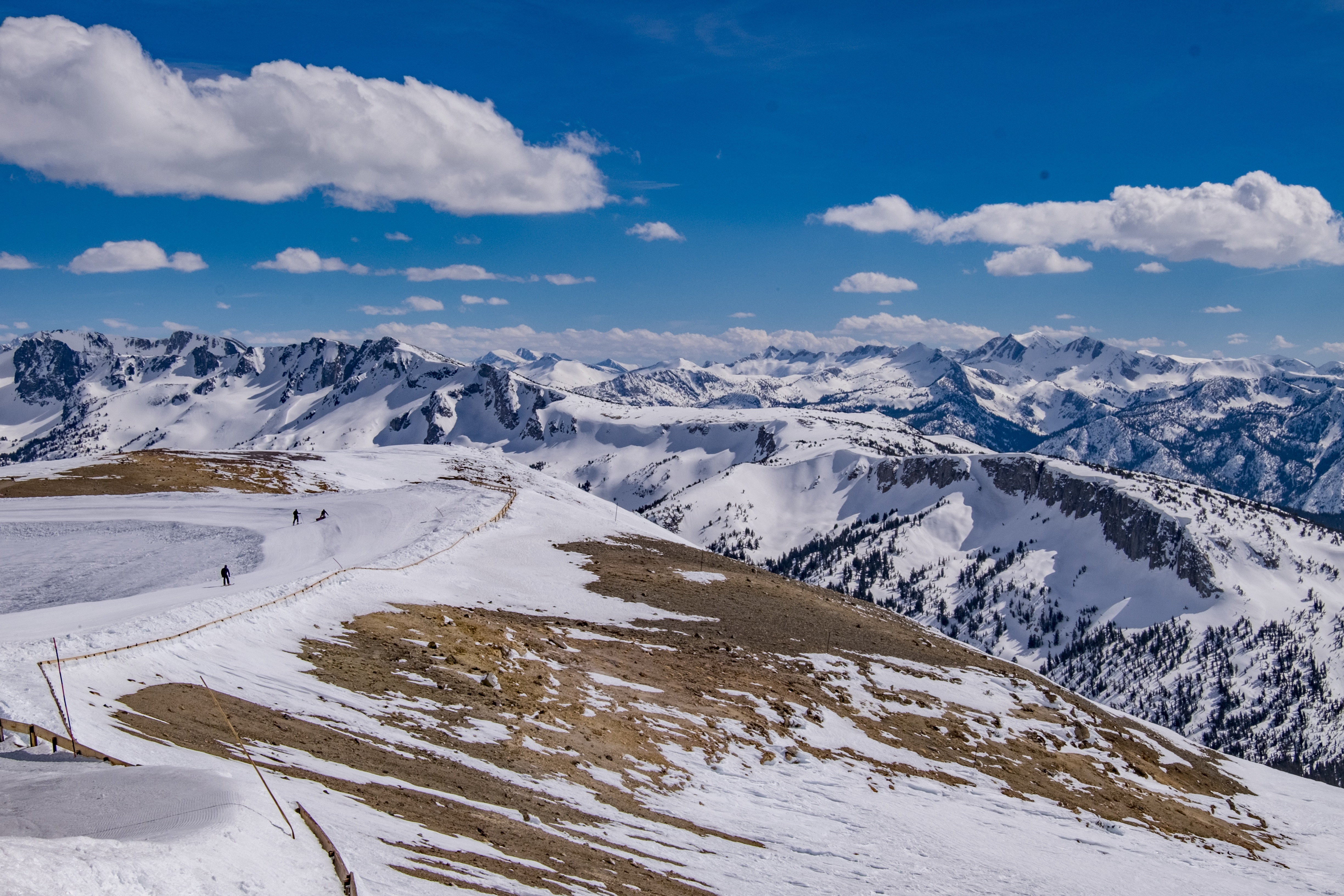 "The view looking south from ""the top of the Sierra,"" at Mammoth Mountain's summit."