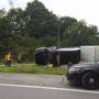 Tractor trailer flips at Lyell Ave ramp to Rt. 390