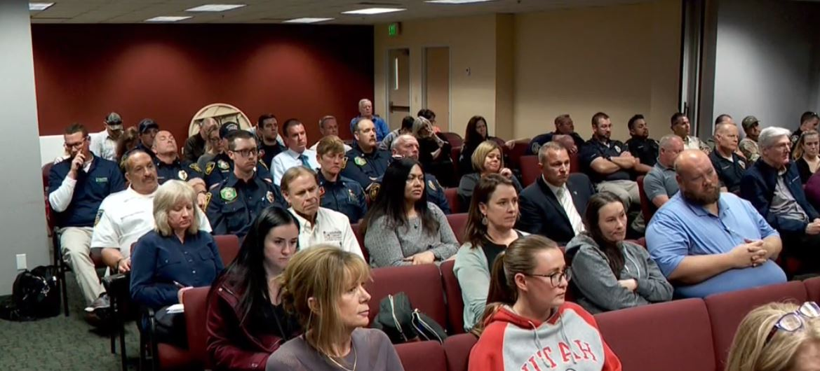 The city council discussed a proposal to increase property taxes by 31% to fund a 15% pay increase for police officers during a meeting on Tuesday night. (Photo: KUTV)