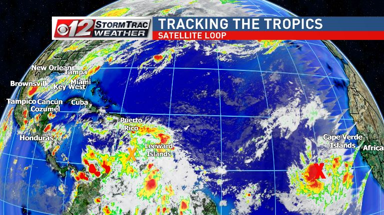 Tropics heating up, two disturbances likely to develop. (WPEC)
