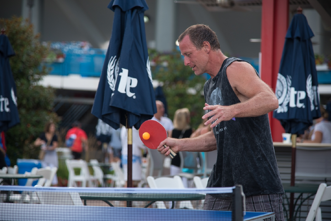 It was another rainy day at the Western & Southern Open, but that didn't stop the fans and the players from having a fun-filled Monday in Mason. Here's a peek at the action. / Image: Phil Armstrong, Cincinnati Refined