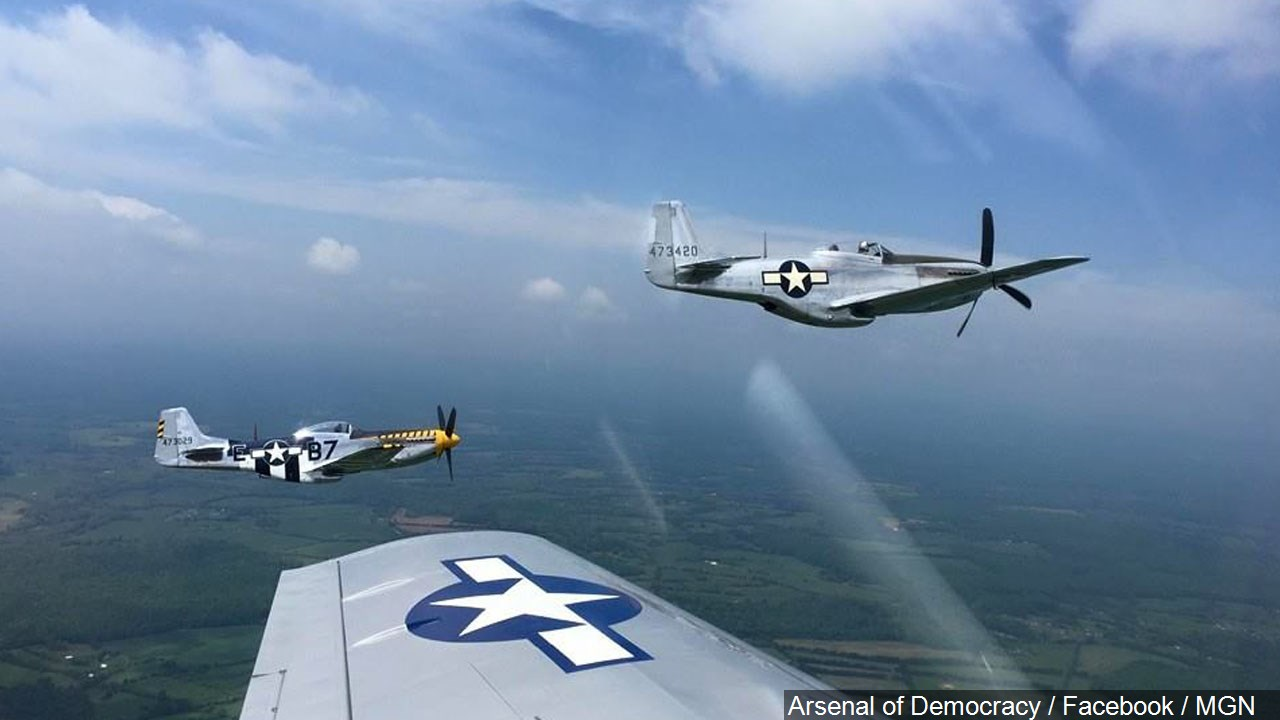 View from a P-51 mustang heading to the National Mall, Photo Date: 5/7/2015 (Photo: Arsenal of Democracy / Facebook / MGN)