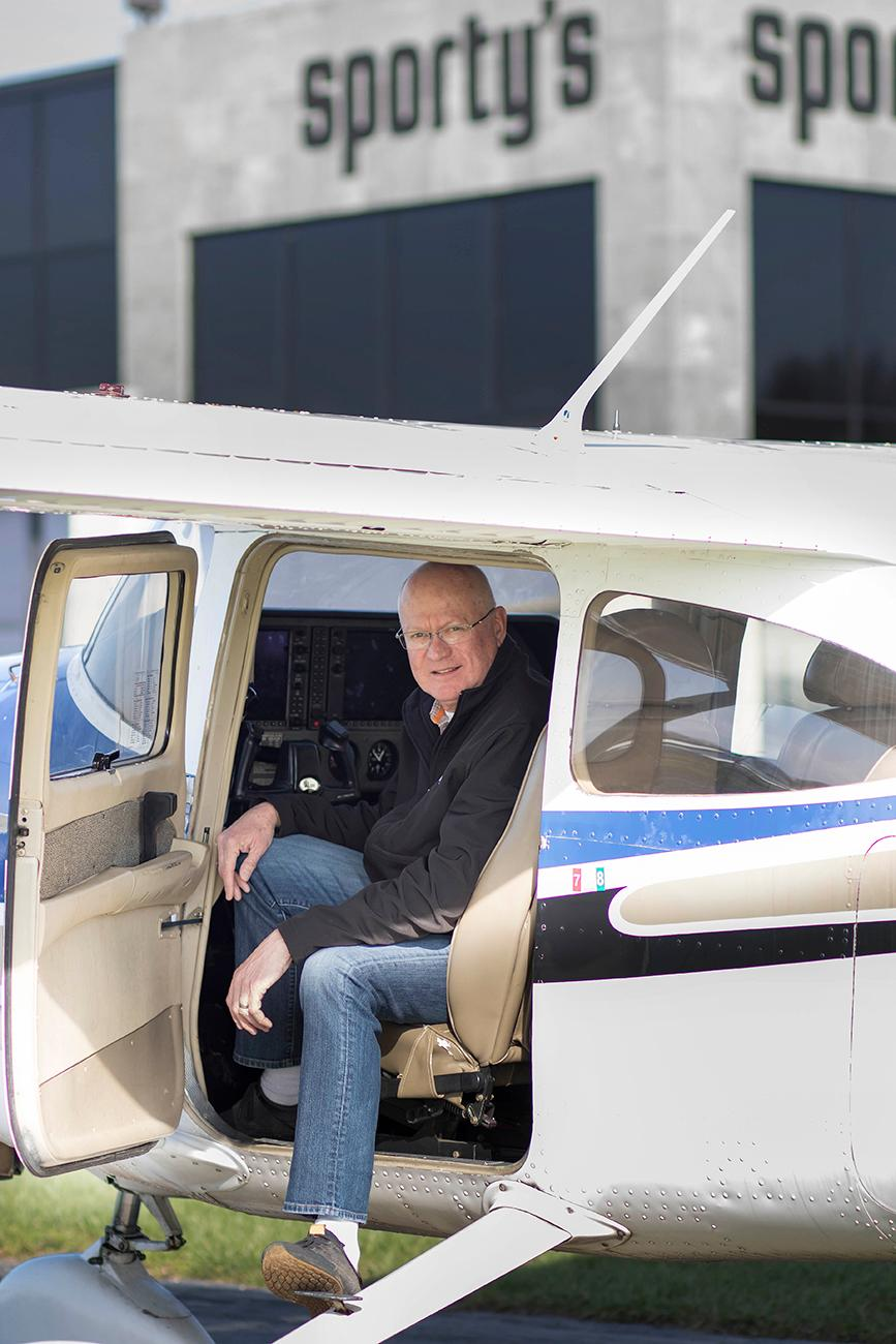 <p>Michael Wolf is the president and CEO of Sporty's. He has worked for the company for over 40 years, so he knows the aviation industry quite well. A pilot for over 30 years, aviation is Michael's first love. / Image: Allison McAdams // Published: 4.14.18</p>