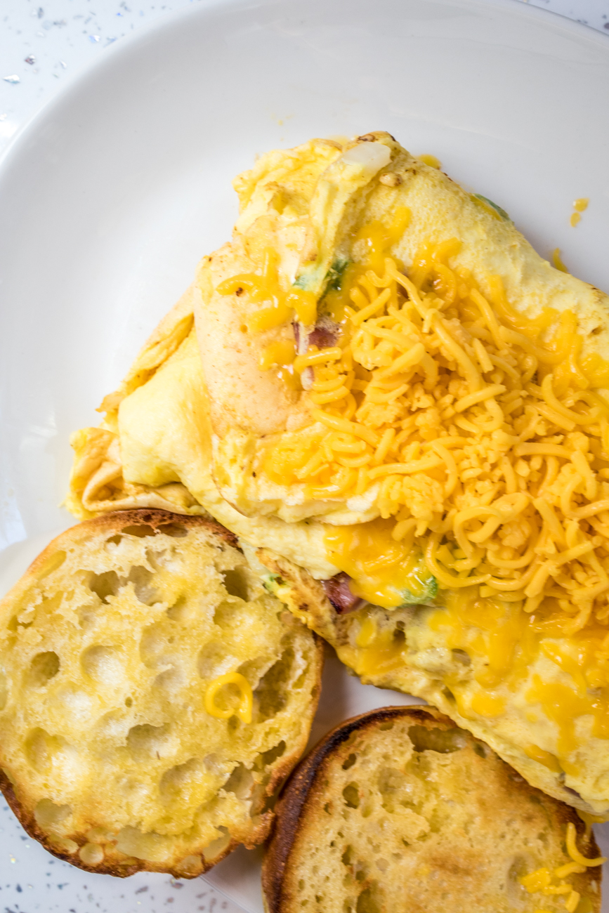 Western Omelette: ham, onions, green peppers, n' American cheese / Image: Catherine Viox{ }// Published: 7.31.20