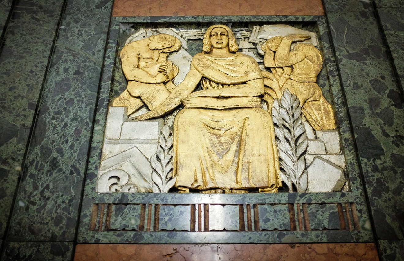 BUILDING: Cincinnati and Suburban Telephone Company / LOCATION: 209 W 7th St (45202) -- Downtown / TIDBIT: Art Deco details in the building's interior / IMAGE: Melissa Doss Sliney