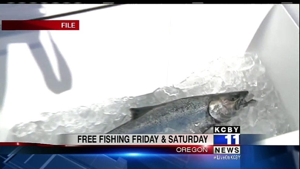Fish free anywhere in oregon this weekend kcby for Free fishing weekend oregon