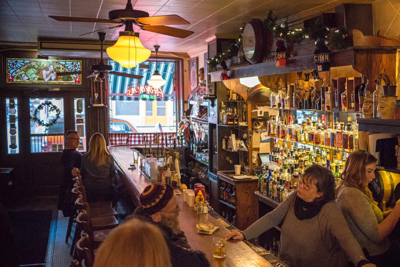 Stop #4 on the Cincinnati Streetcar Food Tour is Arnold's Bar & Grill, located at 210 E. 8th / Image: Phil Armstrong, Cincinnati Refined // Published: 1.3.17