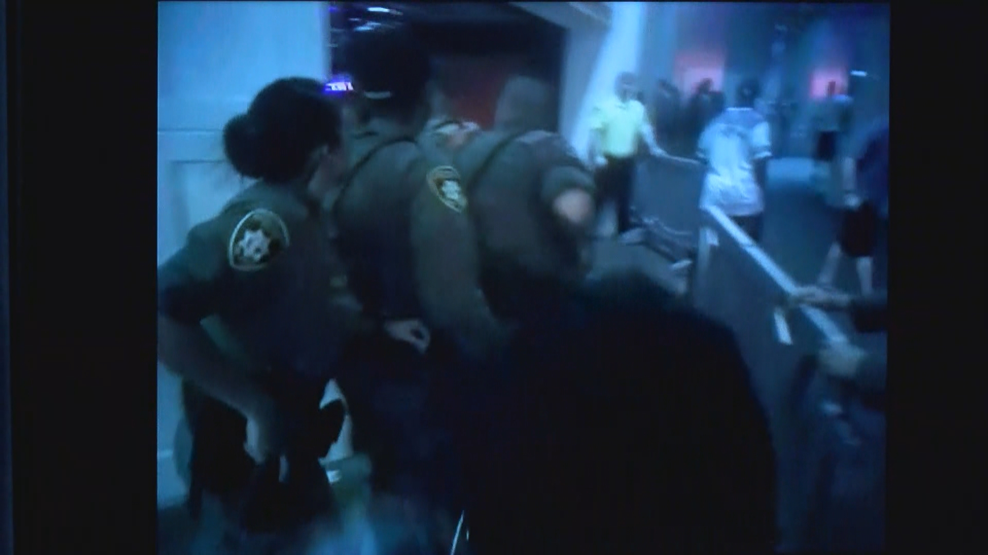 Body camera footage released by the Las Vegas Metropolitan Police Department shows officers entering Drai's Nightclub on Sunday, Aug. 27, 2017, after reports of an active shooter situation. (Photo provided by LVMPD)
