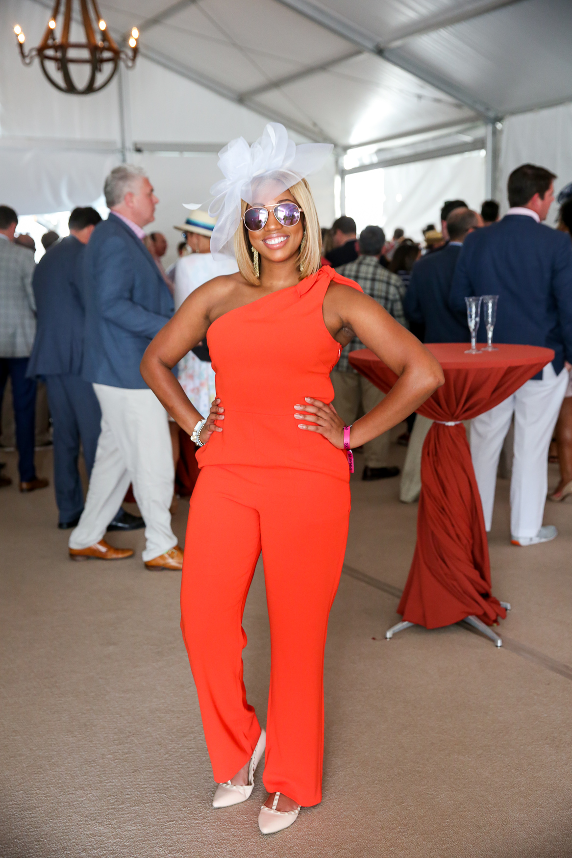This orange jumpsuit was also dazzling. (Amanda Andrade-Rhoades/DC Refined)