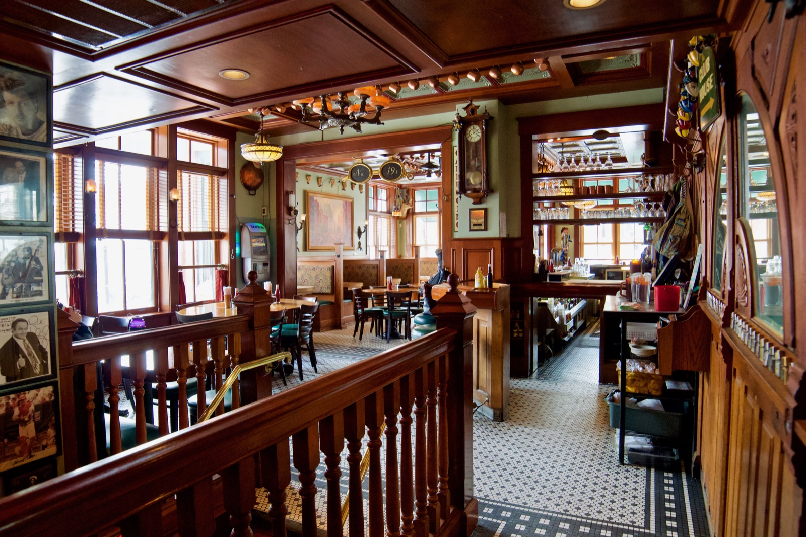 Mt. Adams Bar and Grill sits in a 110-year-old building that was once the site of a George Remus speakeasy. It's still decorated to match, with polished oak, gleaming brass, and an ornate tin ceiling. But the menu is all modern and includes both hearty bar food and healthy alternatives. / Image: Brian Planalp // Published: 1.26.18