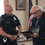 St. Clairsville officer honored after pulling woman from burning home