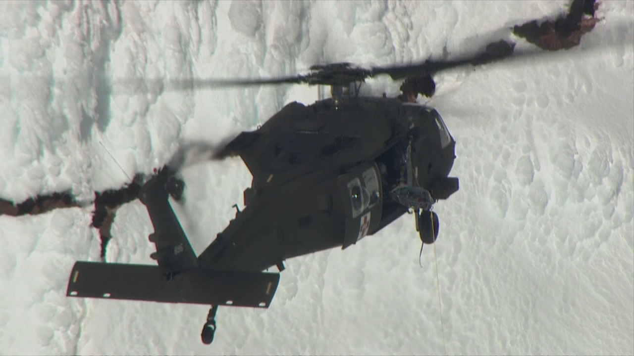 Rescue on Mt Hood February 13, 2018 - KATU Chopper 2{&amp;nbsp;}<p></p>