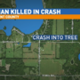 Driver slams into tree, dies on scene in northern Kent County