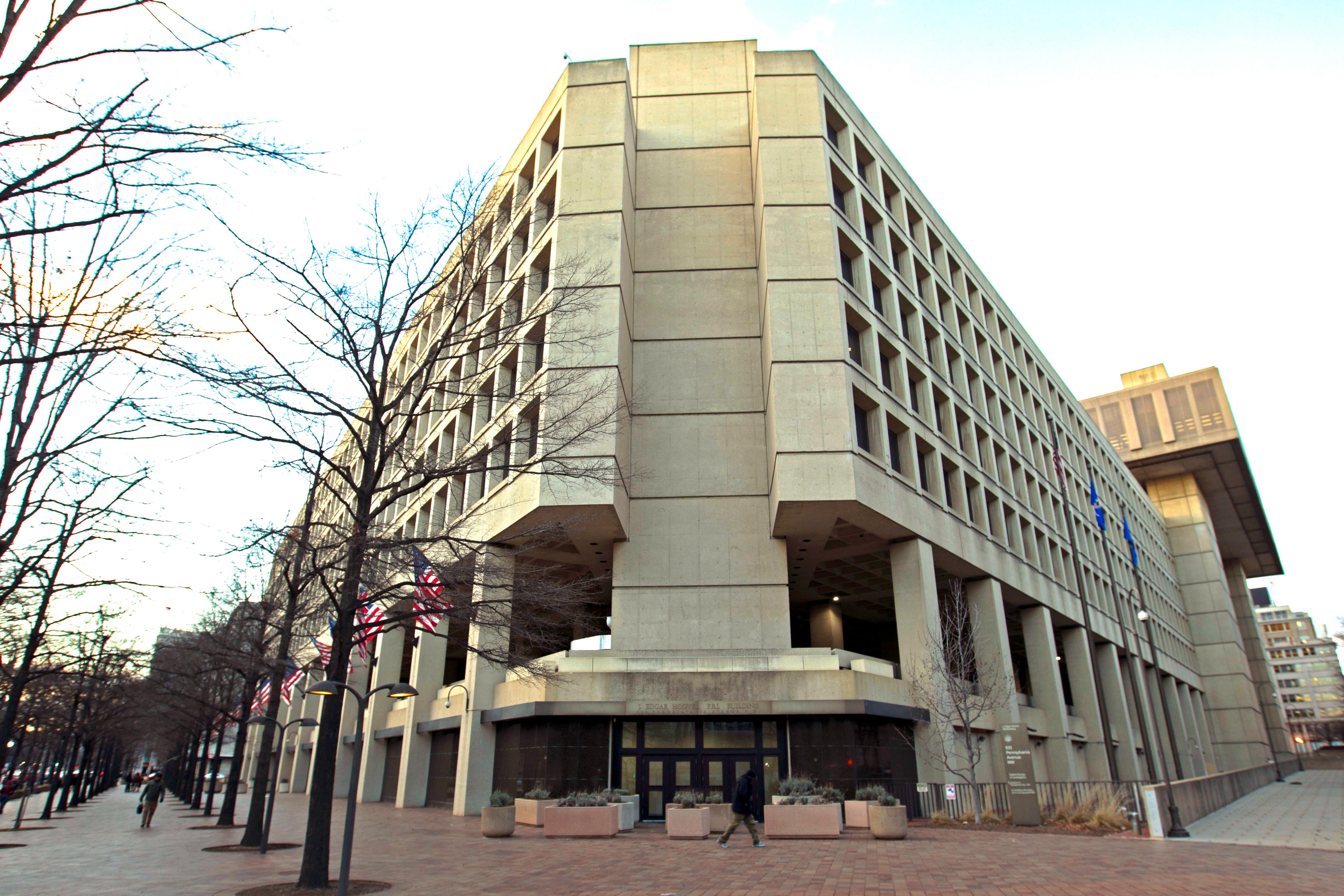 The FBU building in Washington, Friday, Feb. 2, 2018.A new congressional memo alleging FBI surveillance abuse is being used to undermine the legitimacy of special counsel Robert Mueller's Russia investigation. But included in the four-page document are revelations that might complicate the effort.  (AP Photo/Jose Luis Magana)