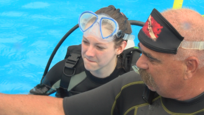 Emily Sheevel was test diving. She now wants to pursue her scuba certification.