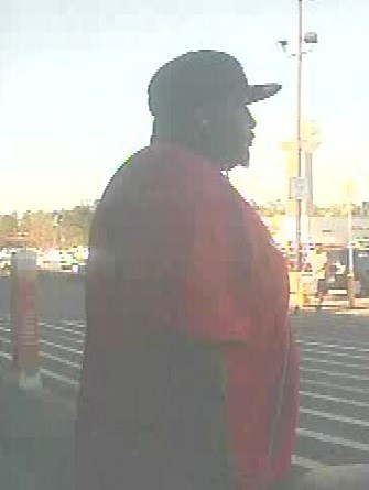 According to Goose Creek Police, this man was videoed making fraudulent charges totaling $107 on a woman's bank card at the St. James Avenue Walmart the afternoon of April 1. (Goose Creek PD)