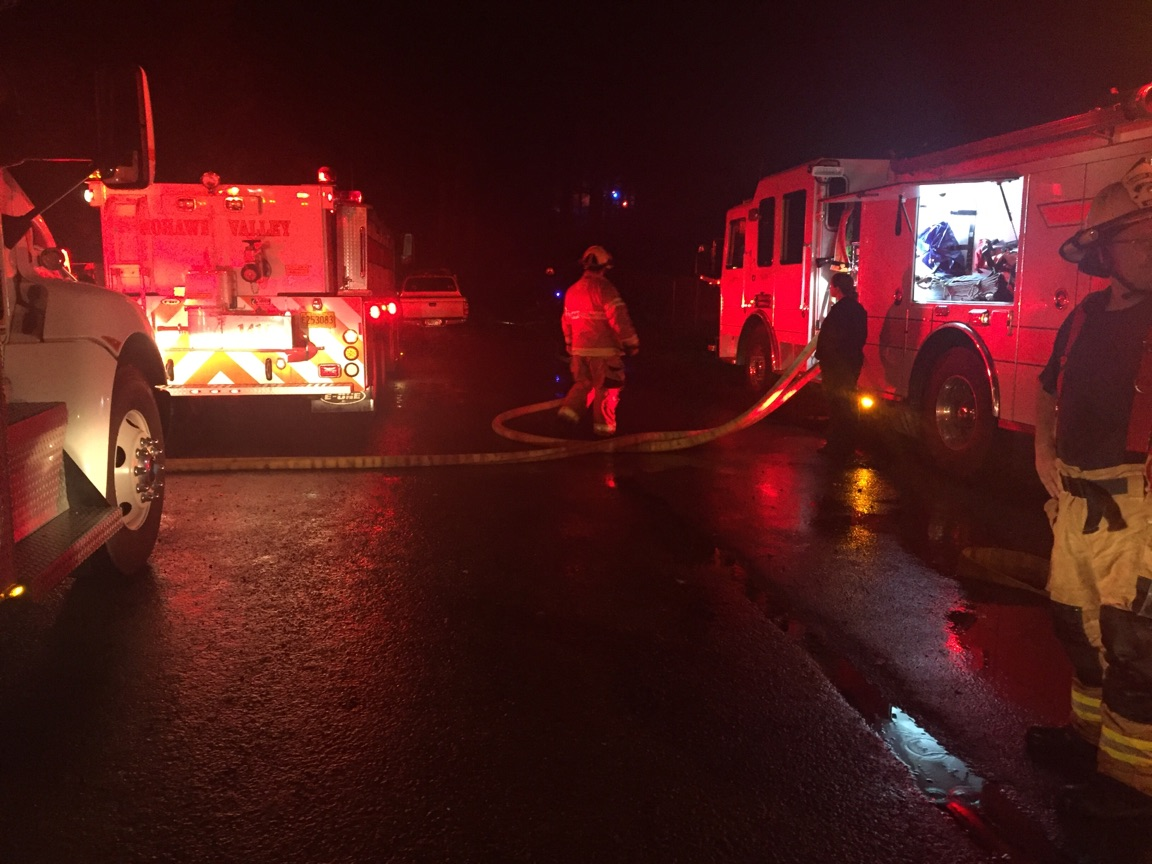 Fifth-wheel explodes in Marcola; no reported injuries in the fire