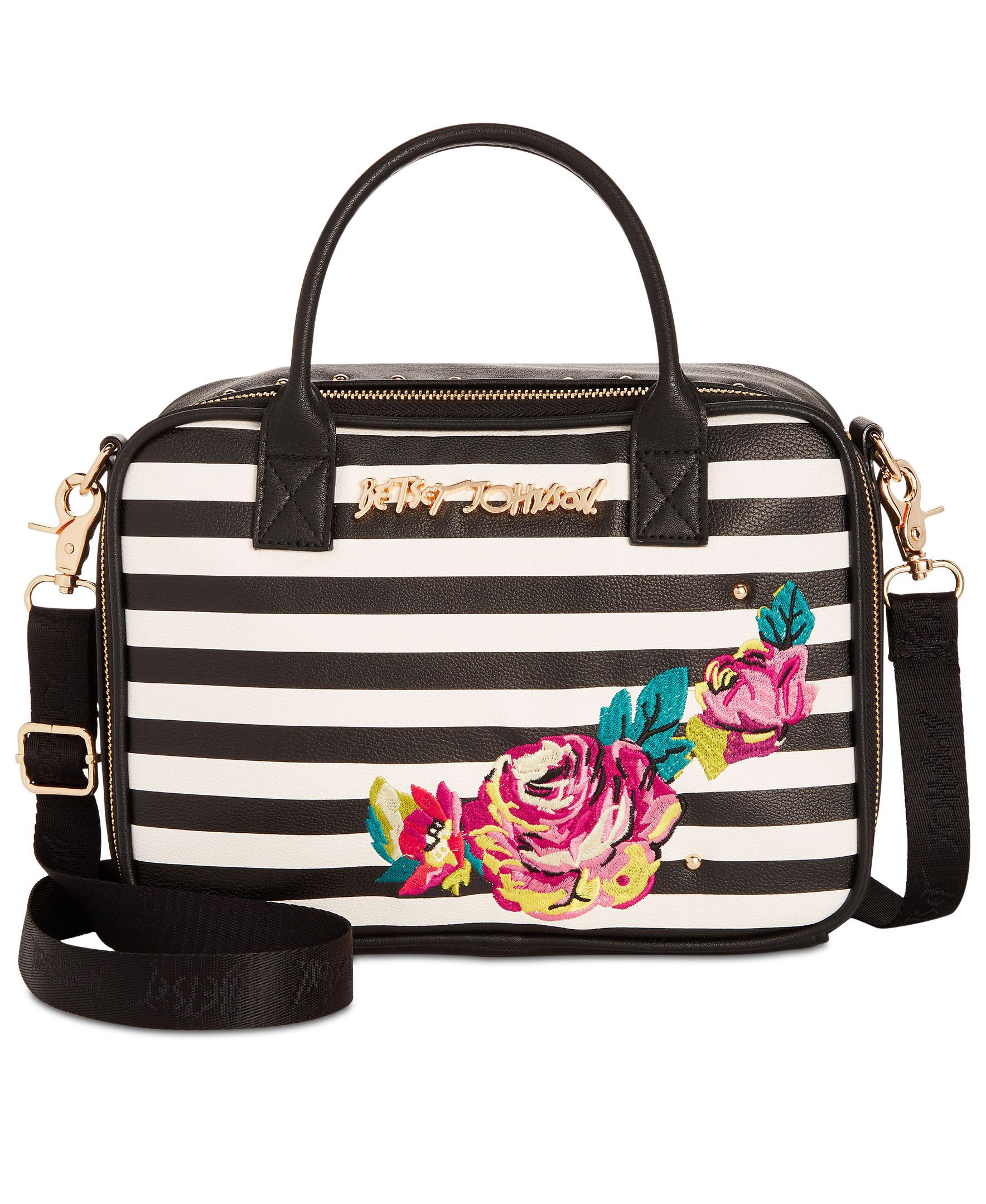 <p>Betsey Johnson Embroidery Small Lunch Tote, a Macy's Exclusive Style // Price: $34.80 // (Image: Macy's // Macys.com){&amp;nbsp;}</p>