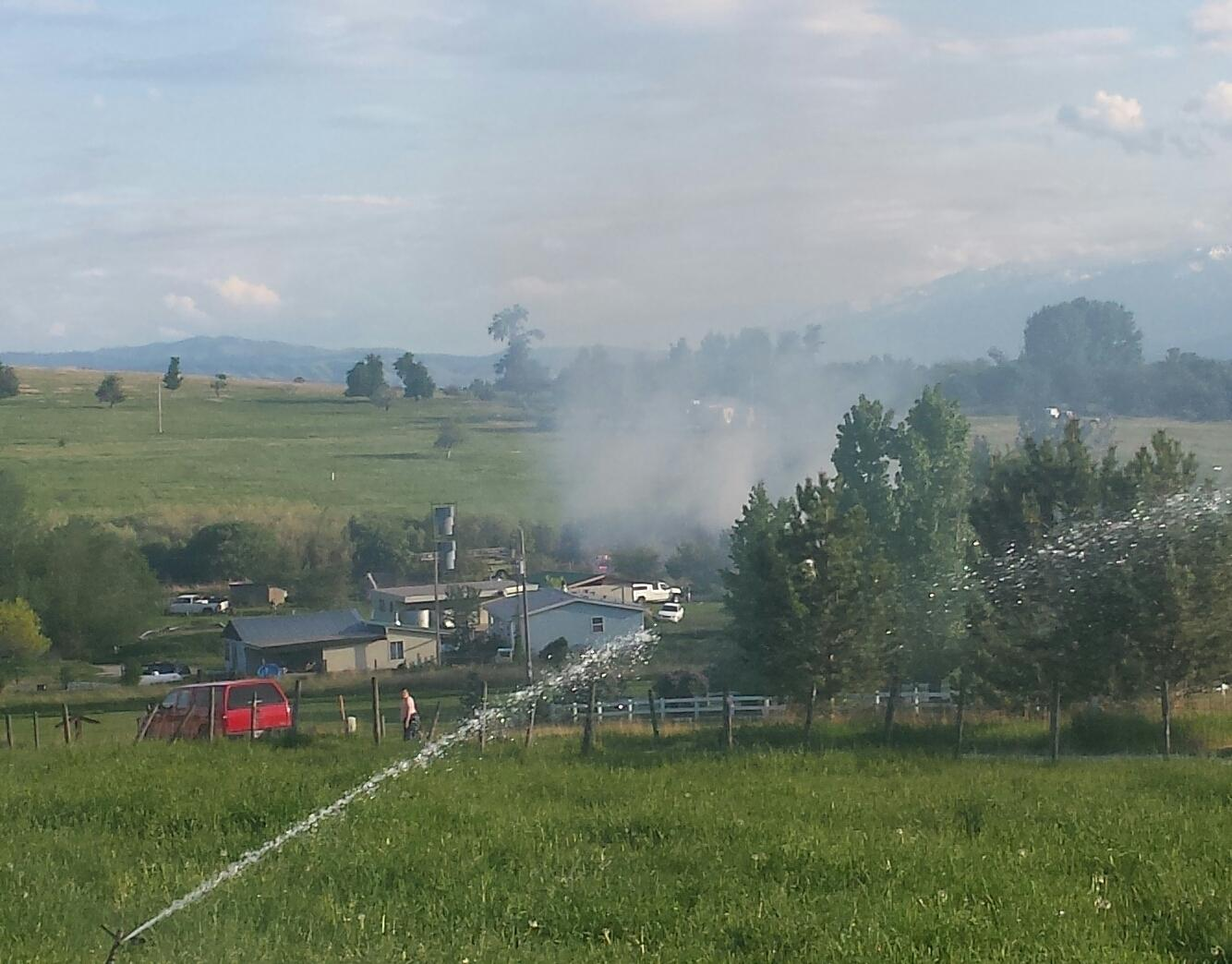 House fire on Basil Lane northeast of Corvallis.<p></p>