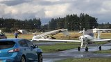 Planes damaged as tornado touches down near Aurora, Oregon