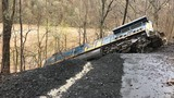 Train with 10 cars derails in remote area south of Thurmond in Fayette County