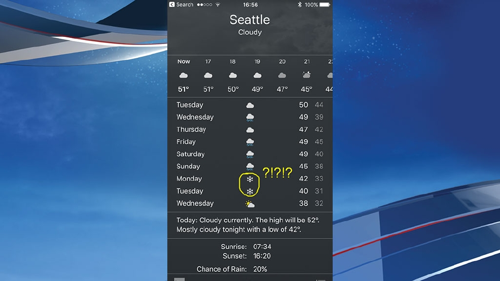 Freaking out over snow in Seattle next week? It's a bit early...