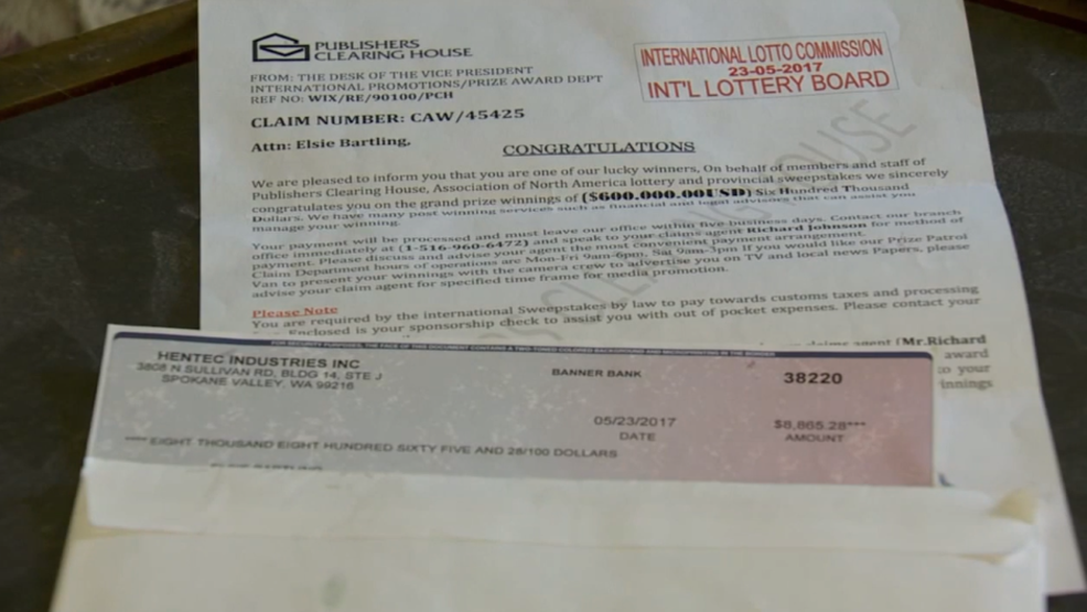 Fake Letters Claiming To Be From Publishers Clearing House