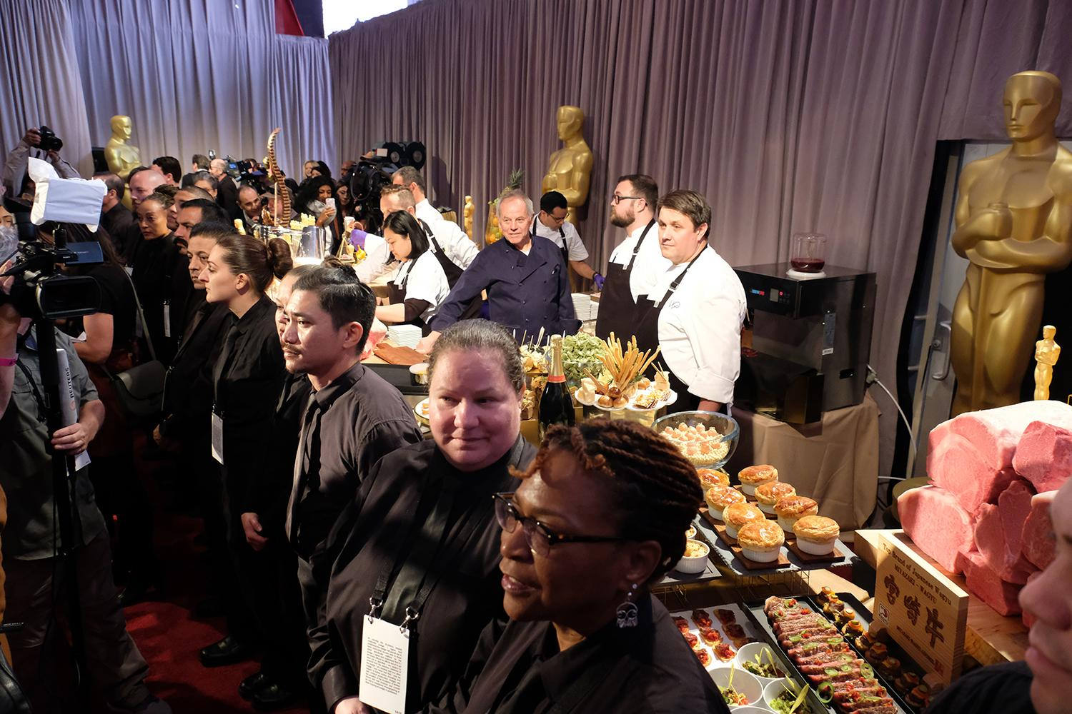 Master chef Wolfgang Puck during the Academy's Governors Ball preview on Thursday, March 1, 2018. The Academy's Governors Ball will be held in the Ray Dolby Ballroom on the top level of the Hollywood & Highland Center®. The 90th Oscars® for outstanding film achievements of 2017 will be presented on Sunday, March 4, 2018 at the Dolby Theatre® in Hollywood, CA and televised live by the ABC Television Network.