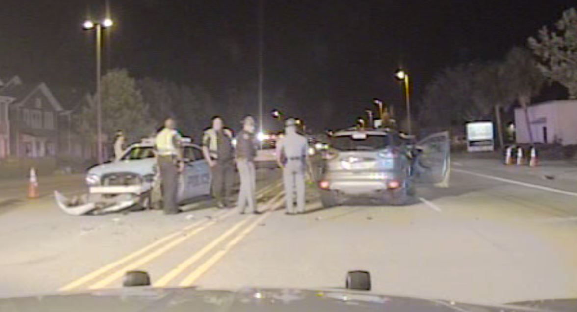 Dash cam video obtained through a Freedom of Information Act request of the wreck involving two Myrtle Beach police officers. (SCDPS)<p></p>