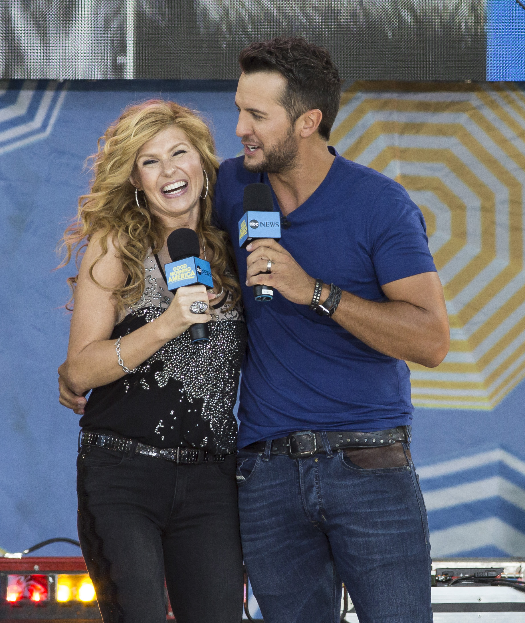 Connie Britton tapes a segment for ABC's musical television drama 'Nashville' on 'Good Morning America'                                    Featuring: Connie Britton, Luke Bryan                  Where: New York, New York, United States                  When: 08 Aug 2014                  Credit: WENN.com