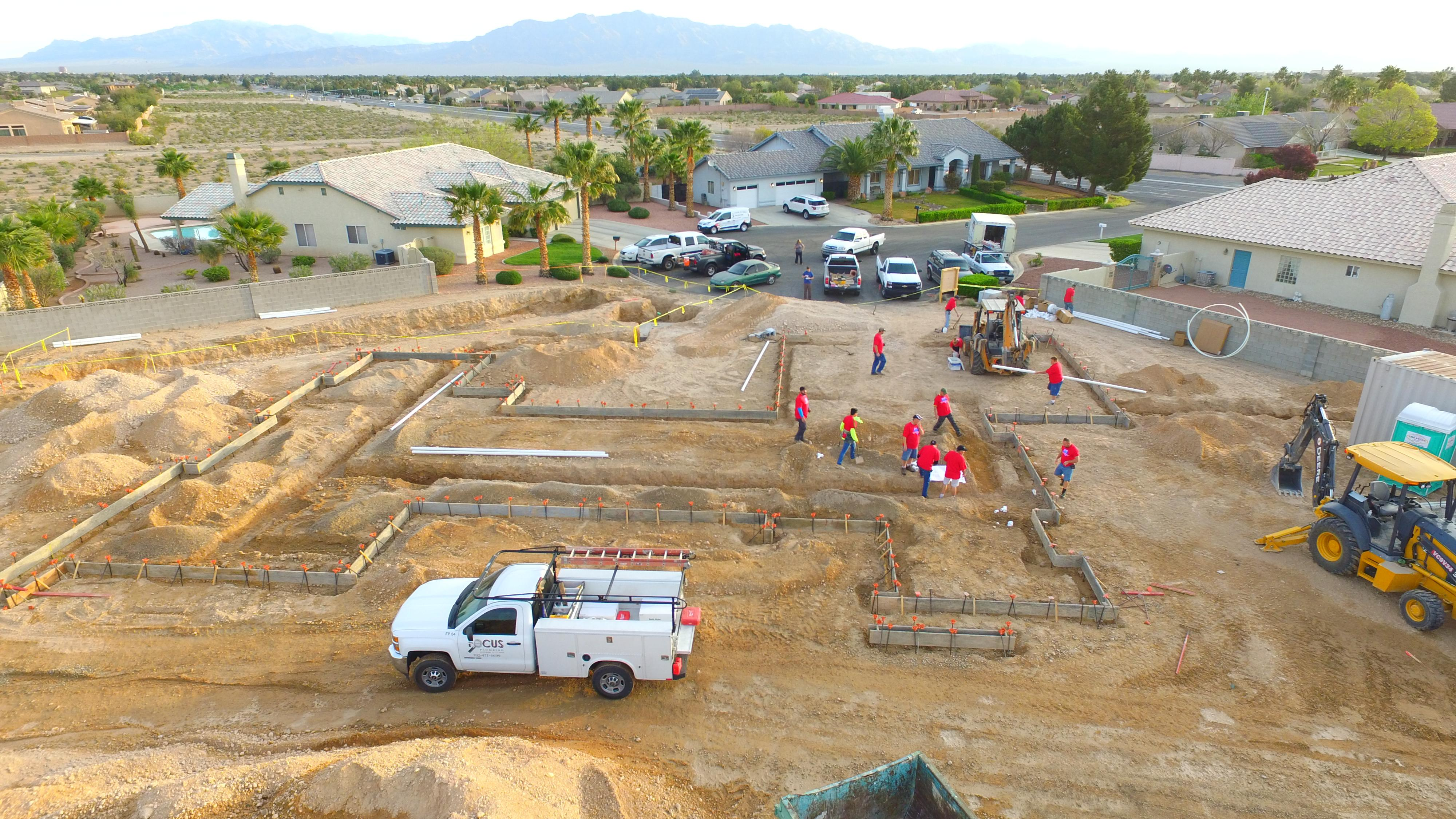 Working on Construction of St. Jude's Dream Home 15 days after construction began. Photo taken by drone on 3/18/2017.  Tickets for a chance to win the home available Wednesday, August 2, 2017 at DreamHome.org (or call 800-378-5386)  (Photo Courtesy Element Building Company)