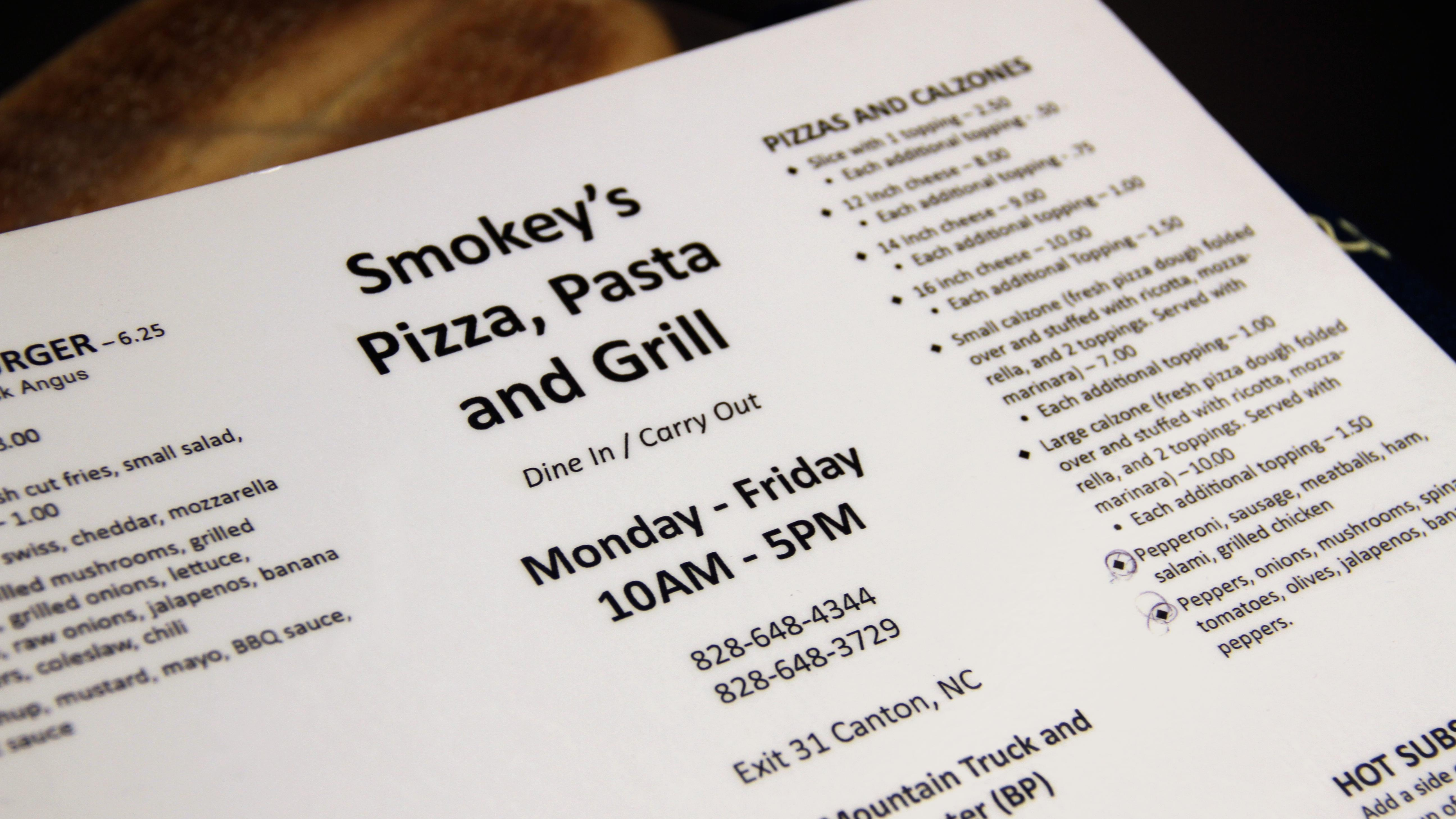 Smokey's Pizza, Pasta and Grill is a hidden gem inside the BP gas station just off Interstate 40. (Photo credit: WLOS Staff)