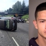 Driver runs from rollover crash on I-5 in N. Portland, police find replica gun in car